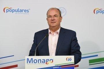 Monago pide test masivos ante el aumento de movilidad en la fase 2 de la desescalada