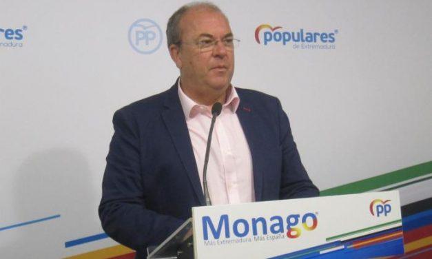 Monago pregunta a Vara si abandonará el PSOE tras el pacto del Gobierno con los indenpendistas y Bildu
