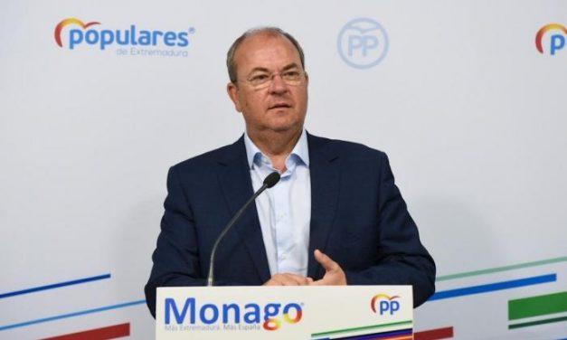 """Monago asegura que Vara """"nos toma por tontos"""" al """"intentar justificar el pacto entre el PSOE y Bildu"""""""