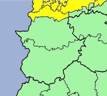 El norte de la provincia de Cáceres permanece este martes en alerta amarilla por lluvias y tormentas