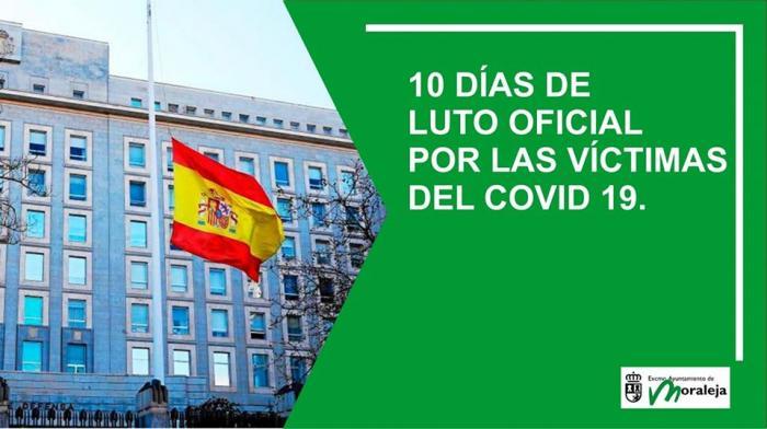Moraleja pide a los vecinos que guarden un minuto de silencio por las víctimas de Covid-19 en su casa o trabajo vitar aglomeraciones