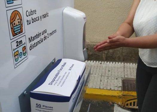 El Ayuntamiento de Moraleja instala estaciones de higiene en diferentes espacios para cuidar a sus vecinos