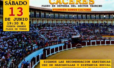Empresarios taurinos exigirán el sábado en Cáceres un trato igualitario al del resto del sector cultural