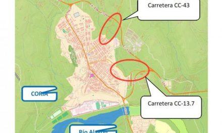 La mejora de las entradas a Coria permitirá un paseo seguro a la residencia geriátrica
