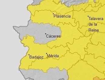Extremadura permanecerá esta jornada en aviso amarillo por temperaturas de hasta 39 grados