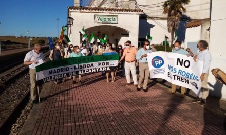 El PP reivindica el paso del tren por Valencia de Alcántara en la ruta Madrid a Lisboa