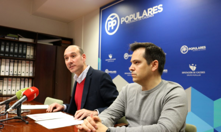 El PP solicita a la Diputación de Cáceres un apoyo económico «serio y real» para los ayuntamientos de la provincia