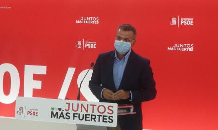 El PSOE pide a la oposición que apoye los Presupuestos Generales del Estado para reactivar Extremadura