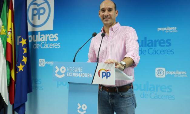 El PP pide a la Diputación de Cáceres que se atienda a ayuntamientos y empresas