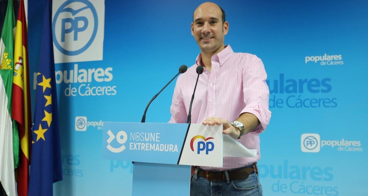 El PP critica que los empresarios estén esperando las ayudas de la Diputación de Cáceres desde el pasado marzo