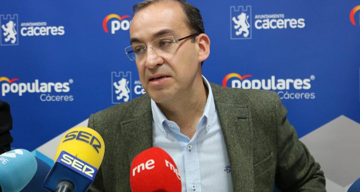 El PP de Cáceres pedirá en el próximo pleno que se adopten medidas urgentes para apoyar al comercio de la ciudad