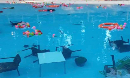 La piscina del Parque del Príncipe recupera su normalidad tras el acto vandálico del día anterior