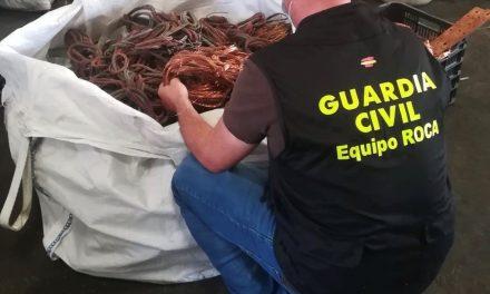 Cuatro detenidos, dos de ellos menores, acusados del robo de cables del alumbrado público en Cáceres