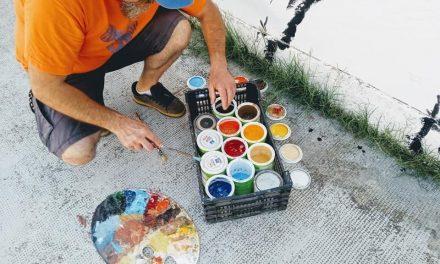 Un taller en Montijo pretende recuperar para la ciudadanía un espacio inutilizado a través del arte al aire libre