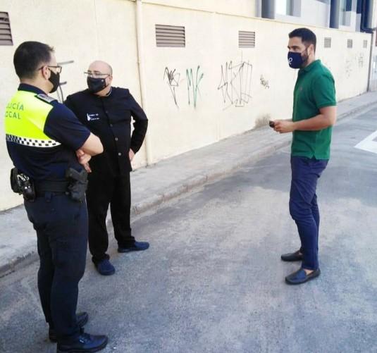 Ayuntamiento, policía y comerciantes estudian el tráfico de la zona del nuevo párking de Plasencia