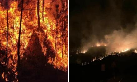 Evacuados más de 120 vecinos de dos pedanías de Las Hurdes por la peligrosidad de un incendio