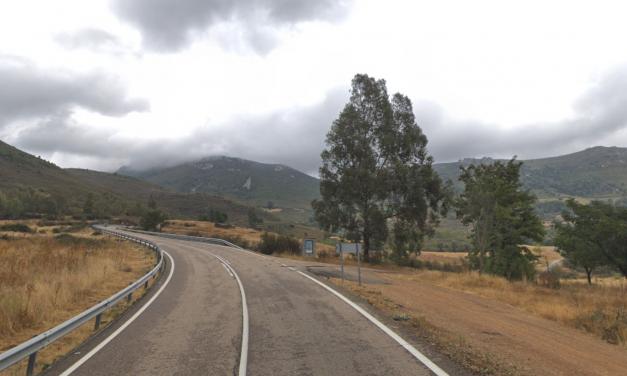 Herido un motorista tras salirse de la vía en las cercanías de Cañamero