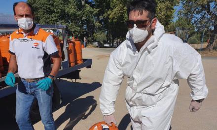 El Ayuntamiento de Eljas reparte butano a domicilio para que la gente no salga de casa