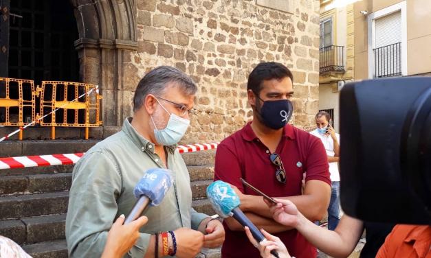 El incendio en San Martín obligará a restaurar el retablo del Divino Morales de Plasencia