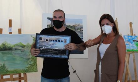 Un malagueño se convierte en el ganador del VIII concurso de dibujo y pintura al aire libre de Coria