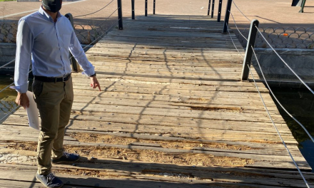 El PSOE de Badajoz pide al consistorio reparar el suelo de madera del puente de Puerta del Pilar