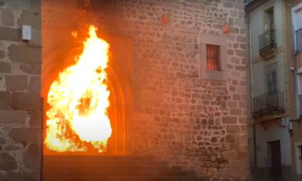 La Policía asegura que un grupo de menores provocó el incendio de la Iglesia de San Martín de Plasencia