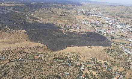 Controlado el incendio en la Sierra de Santa Bárbara que ha arrasado unas 500 hectáreas