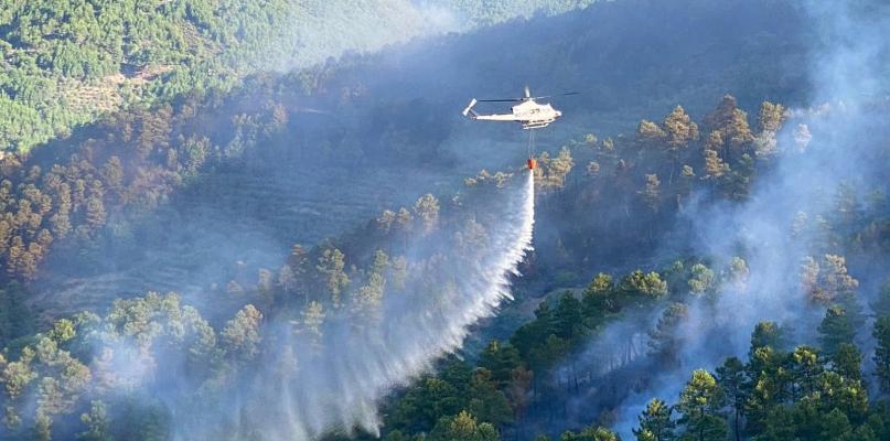 Los vecinos afectados por el incendio de Las Hurdes regresan a sus hogares