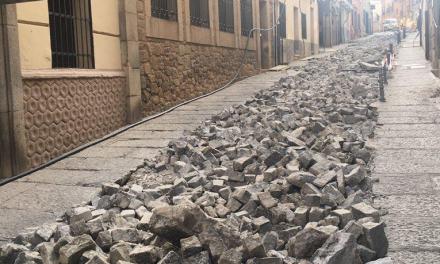 El consistorio estima que los trabajos en las calles Coria, Magdalena y Veras finalicen en tres meses