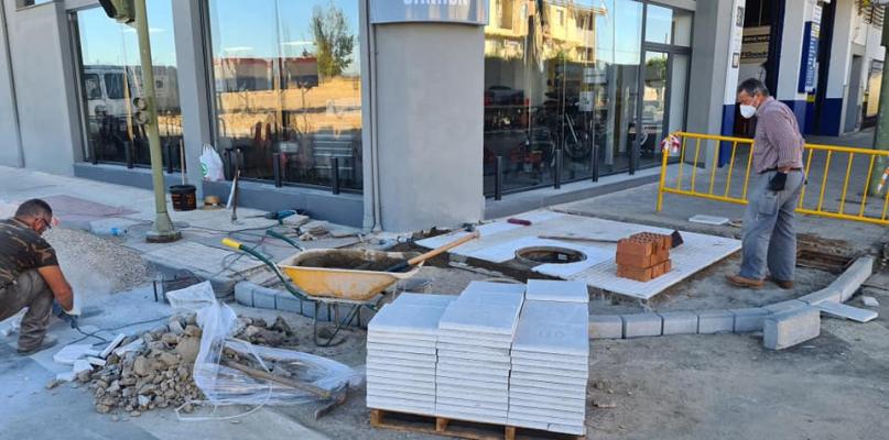 Moraleja realiza obras de accesibilidad en la avenida Pureza Canelo