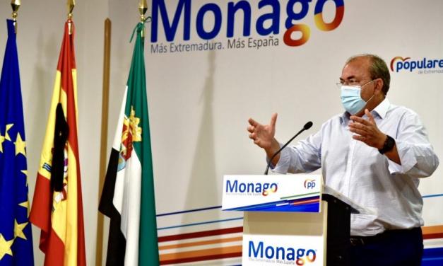 """Monago asegura que el ahorro de los ayuntamientos """"va camino de satisfacer peajes nacionalistas»"""
