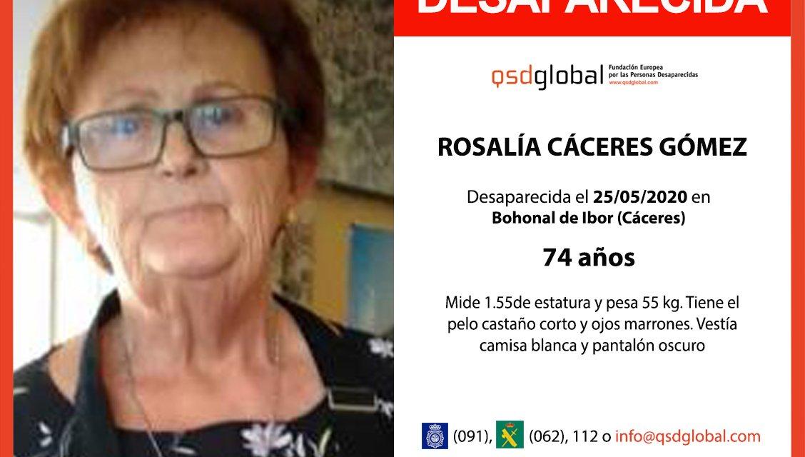 Nueva batida para encontrar a Rosalía, desaparecida en Bohonal de Ibor en mayo de 2020