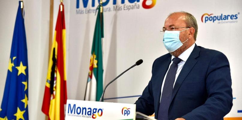 Monago propone crear una oficina estratégica para la reconstrucción de Extremadura