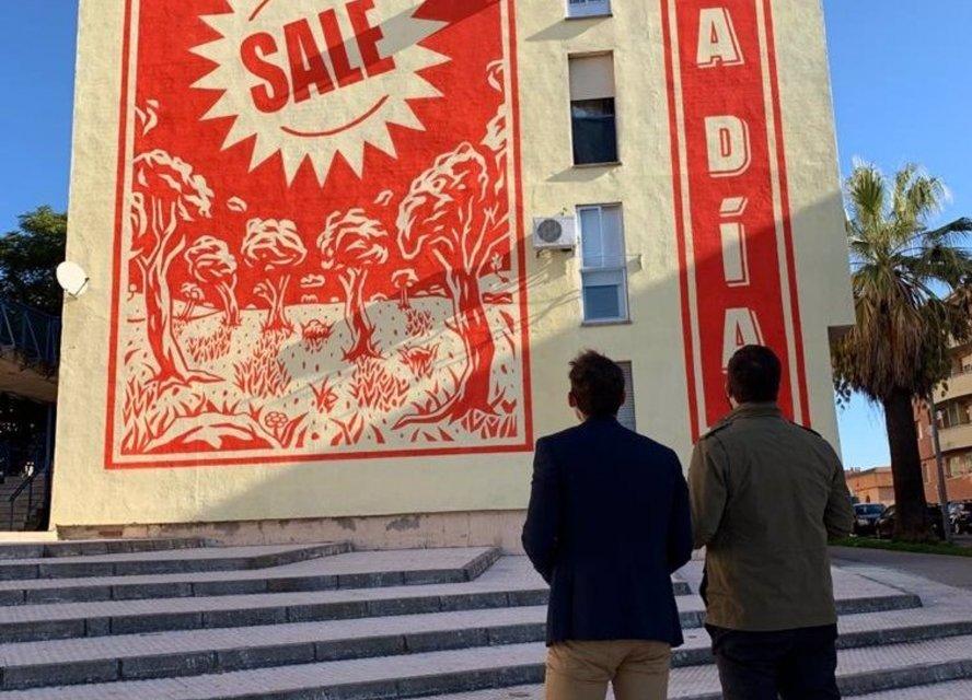 Aldea Moret luce un mural de arte urbano para regenerar zonas degradadas