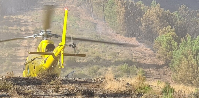 El Plan Infoex da por controlado y desactiva la peligrosidad del incendio de Las Hurdes