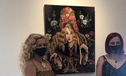 La artista Ana San Pedro expone en el Palacio de la Isla de Cáceres hasta octubre