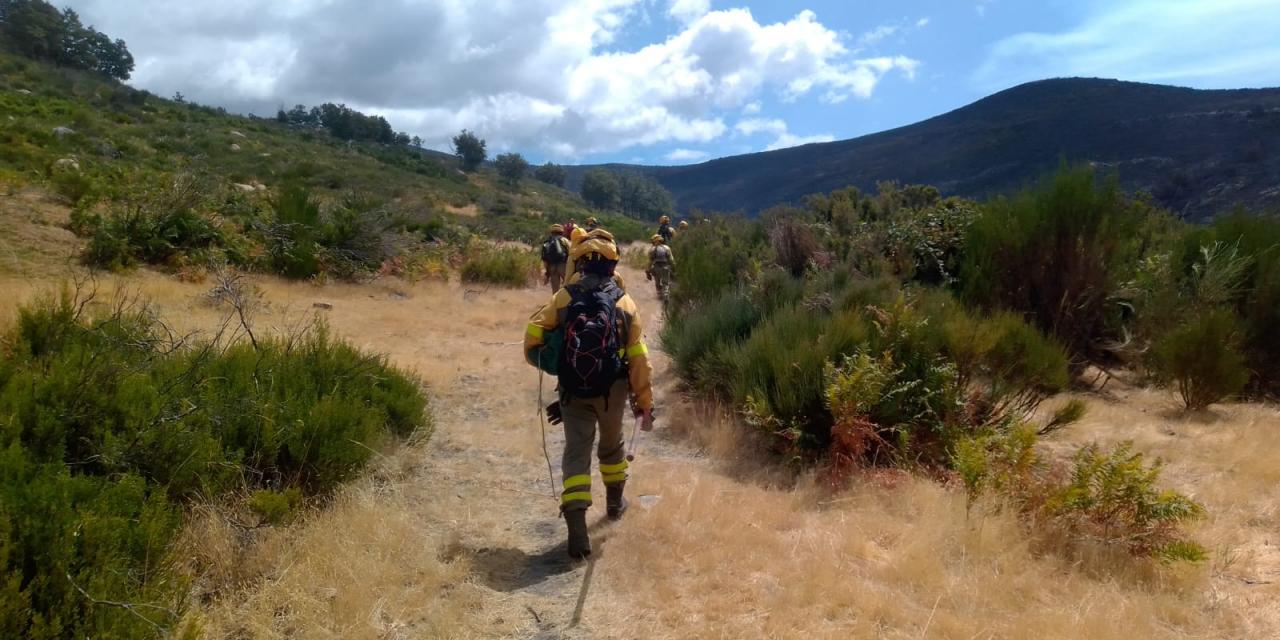 Estabilizado el incendio del Jerte que pasa a nivel 1 de peligrosidad