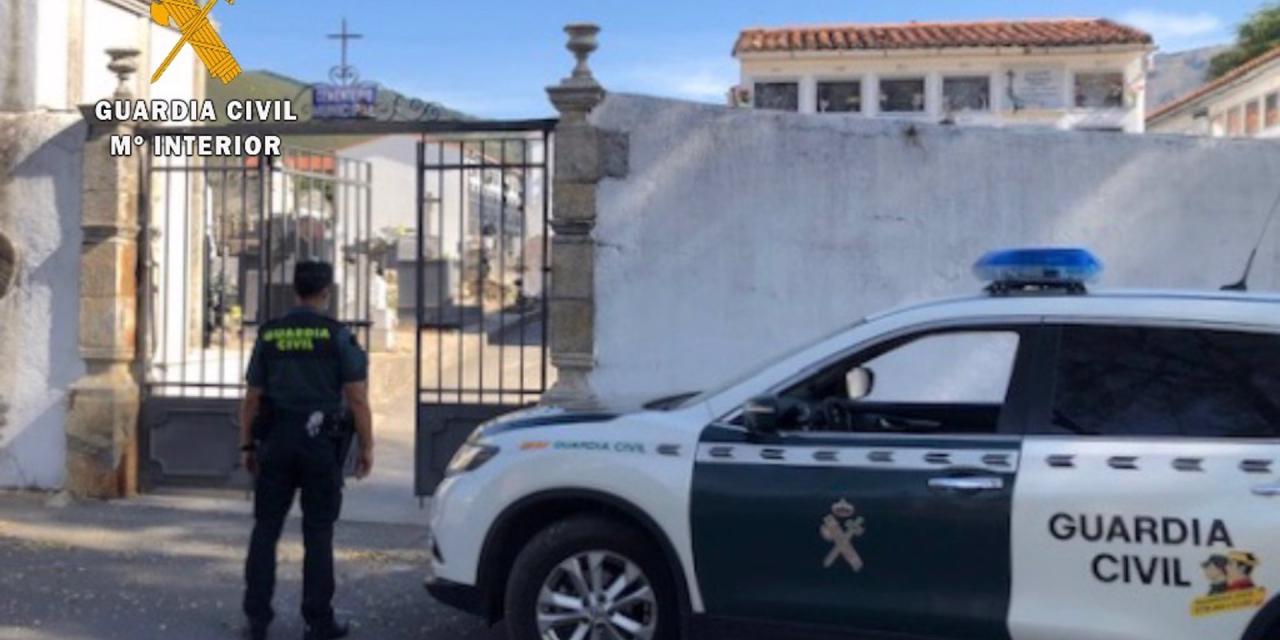 Detenidos dos vecinos de Valverde del Fresno por robar en nichos del cementerio municipal