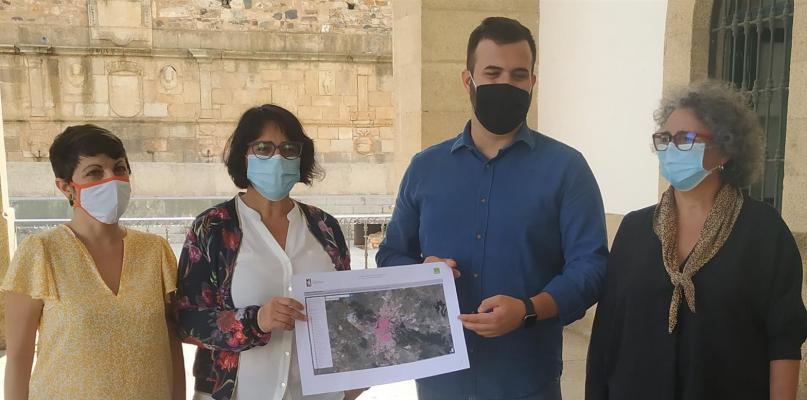 Cáceres presenta un mapa de puntos negros y oscuros para mejorar la seguridad