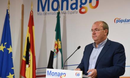 Monago pide a la Junta que cree una web que registre todas incidencias de la Covid en Extremadura