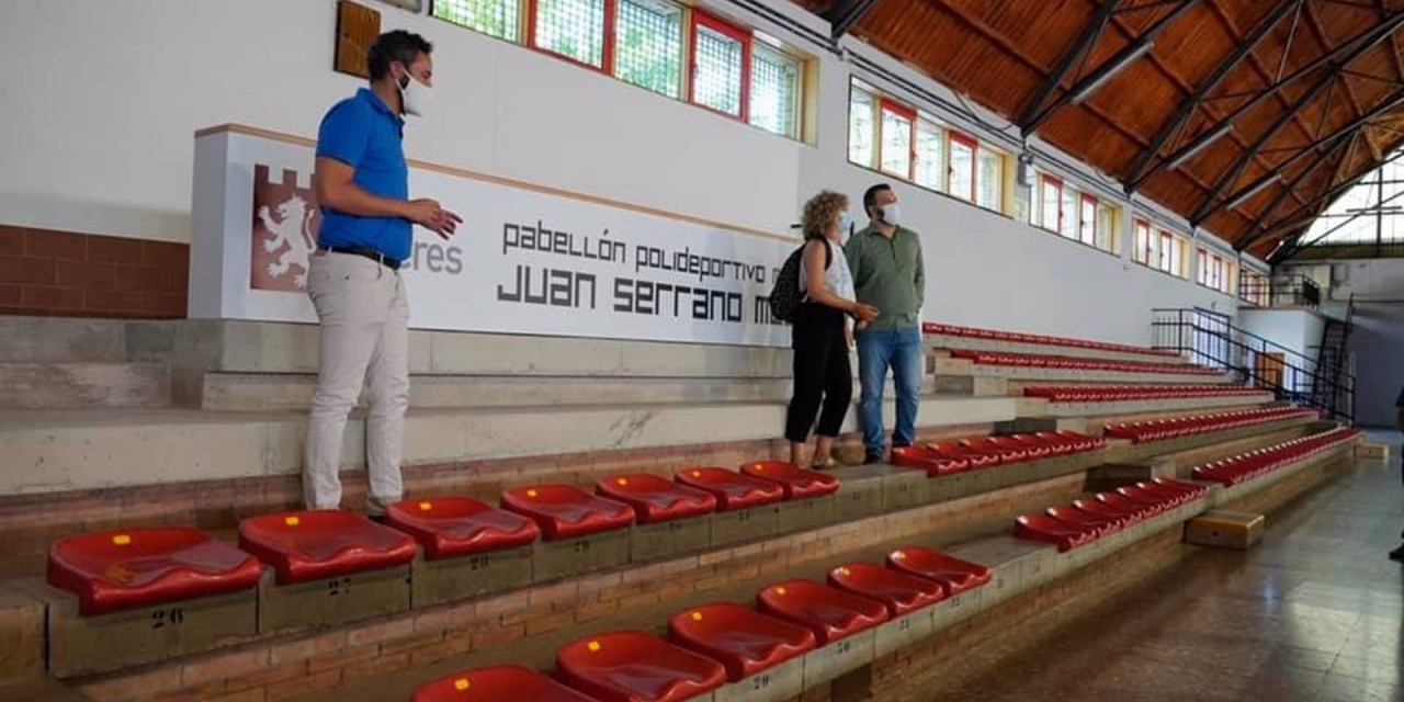 Finalizan las obras de la cubierta del pabellón Juan Serrano Macayo de Cáceres