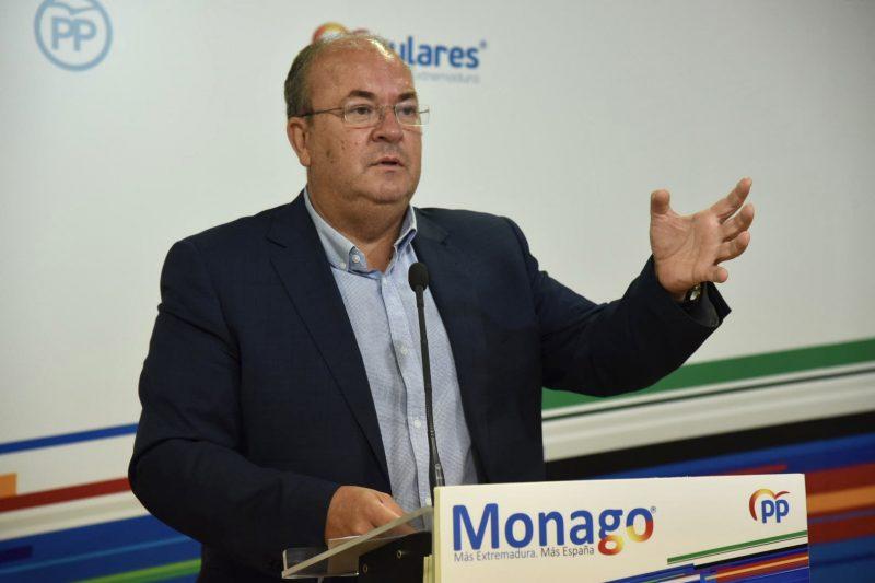 Monago reclama que se abonen las ayudas a autónomos para paliar los efectos de la Covid