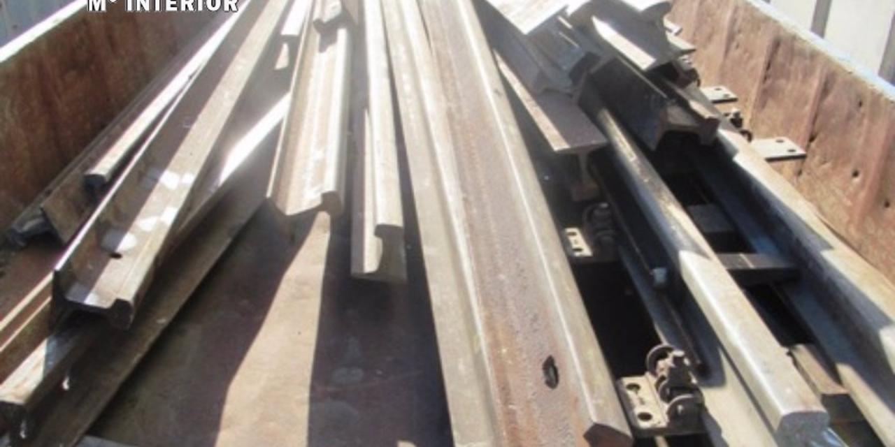 Detenidos dos hombres en Plasencia de 42 y 48 años por robar material ferroviario