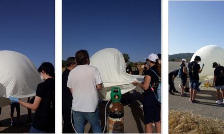 Estudiantes de Cáceres lanzan una sonda espacial