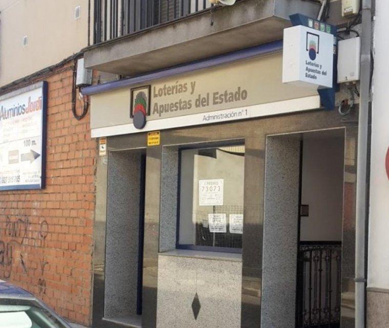 Una administración de Moraleja reparte 250.000 euros en dos series de la Lotería Nacional