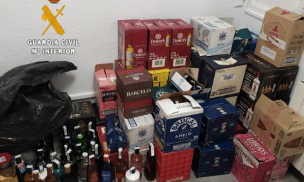 La Guardia Civil detiene en Saucedilla a un hombre que robó bebidas alcohólicas en Huelva