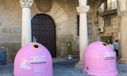 Plasencia se suma a la campaña solidaria de reciclaje por el Día Mundial del Cáncer de Mama