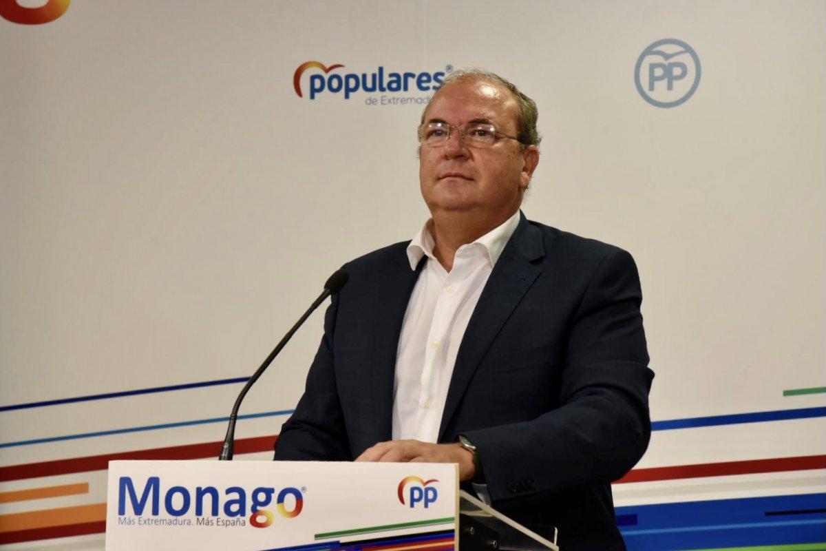 Monago pide un plan de rescate para el turismo y la hostelería de Extremadura
