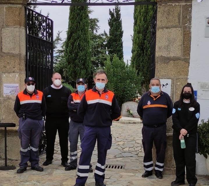El alcalde de Moraleja agradece el comportamiento de la ciudadanía durante su visita al cementerio