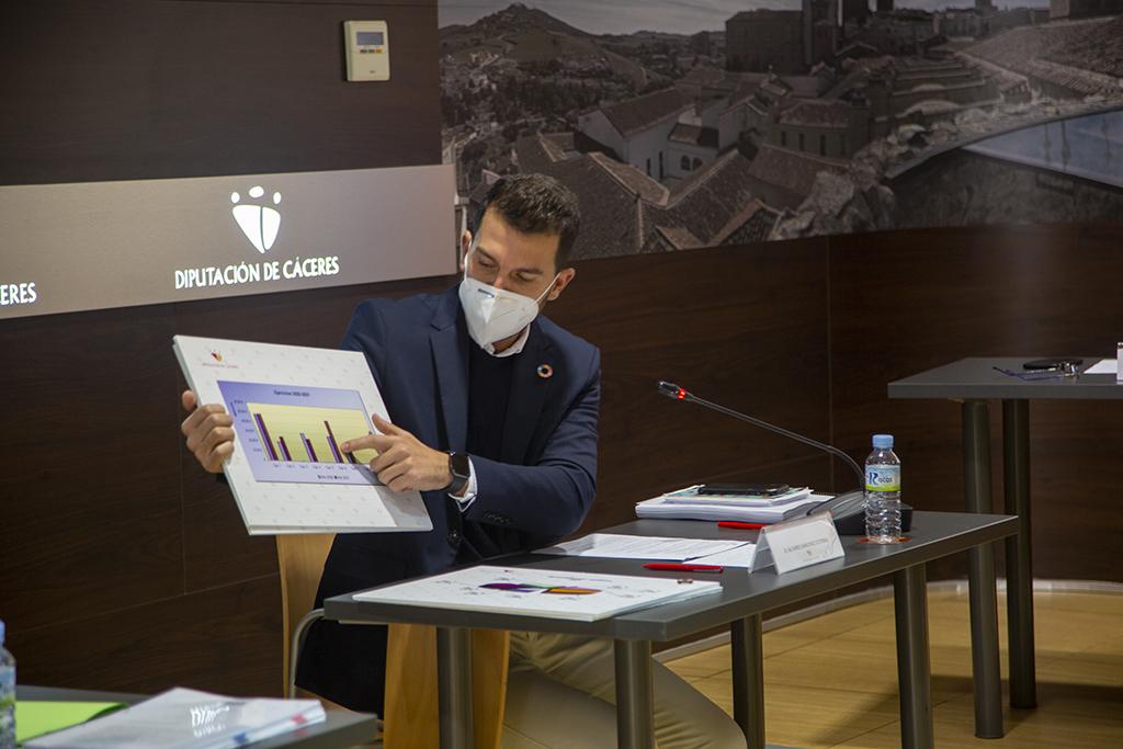 El presupuesto de la Diputación de Cáceres para 2021 será de 160,3 millones